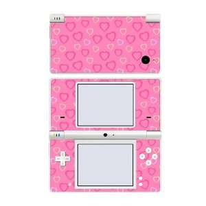 Nintendo DSi Skin Decal Sticker   Pink Hearts
