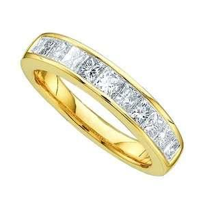 Set Princess Cut White Diamonds Bridal Wedding Anniversary Ring