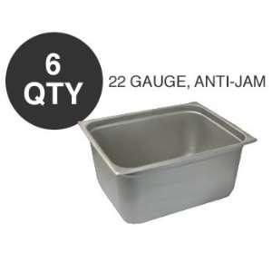6 HALF SIZE 6D ANTI JAM STEAM TABLE PAN