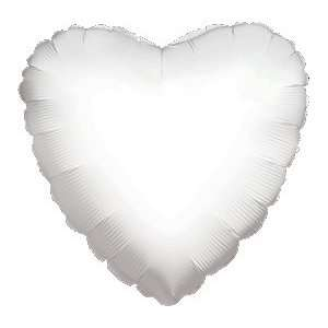 12 Mylar/Foil Balloons Lot Wedding/Party Heart  18   White