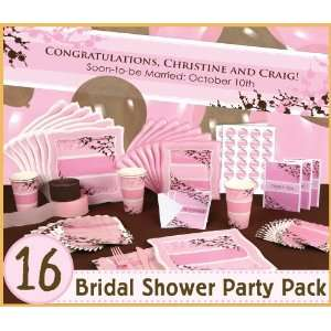 Cherry Blossom   16 Bridal Shower Party Pack: Toys & Games