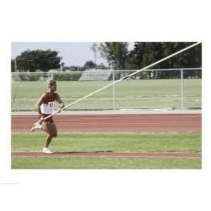 Male athlete pole vaulting  24 x 18  Poster Print: Toys & Games