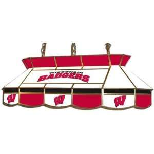 : Wisconsin Badgers Stained Glass Pool Table Light: Home Improvement