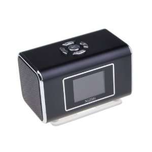 com Black Mini Digital Portable Music MP3 Player USB Speaker FM Radio