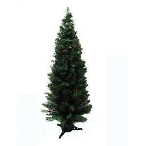 Pre Lit Color Changing Fiber Optic Potted Artificial Christmas Tree