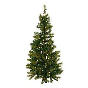 Pine Pre Lit Clear Wall Tree