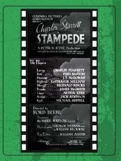 Stampede: Charles Starrett, Finis Barton, J.P. McGowan