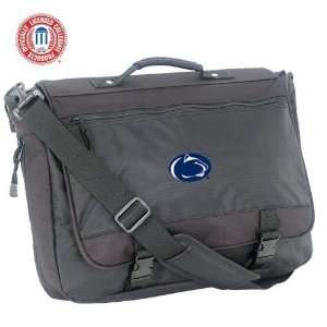 Mercury Luggage Penn State Nittany Lions Black Flap Over Attache