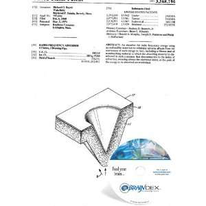 NEW Patent CD for RADIO FREQUENCY ABSORBER: Everything Else