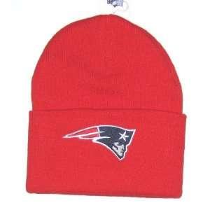 NFL Team Apparel Classic Cuffed Red Knit Beanie Hat