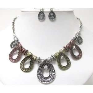 Crystal Accents Silver, Rose & Yellow Gold Tone Finish Jewelry