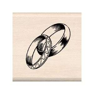 WEDDING BANDS Wood Mounted Rubber Stamp InkaDinkaDo Arts