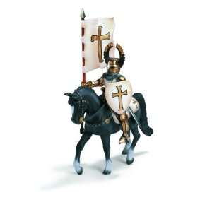 Schleich Crusader Standard bearer on Horse: Toys & Games