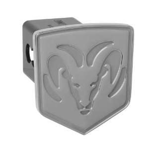 Dodge Ram Hitch Cover, Silver Embossed Automotive