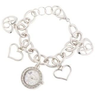 XOXO Womens XO7026 Silver Dial Silver tone Charm Bracelet