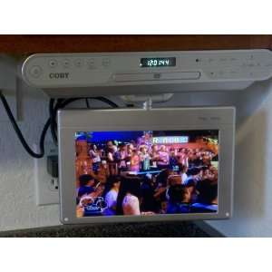 Cabinet DVD/CD Player with Digital TV and Radio, Silver Electronics
