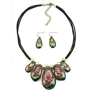 Fashion Jewelry Desinger Inspired Brass Oxidized with Crystal Beads