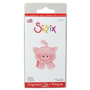 Sizzix Originals Die Medium Pig 2   631499 Patio, Lawn