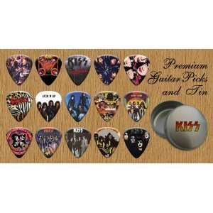 KISS Premium Guitar Picks X 15 In Tin (G)  Musical