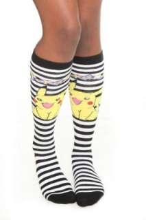 Pokemon Pikachu Stripe Knee High Socks Clothing