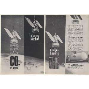 1963 NASA NIMBUS Solar Powered Weather Satellite Liquid