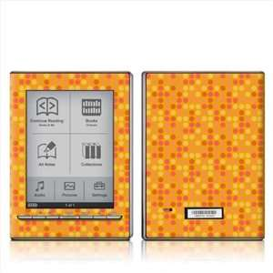 Dots Orange Design Protective Decal Skin Sticker for Sony