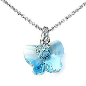 Crystal Butterfly Pendant by Swarovski Elements with free 18inch