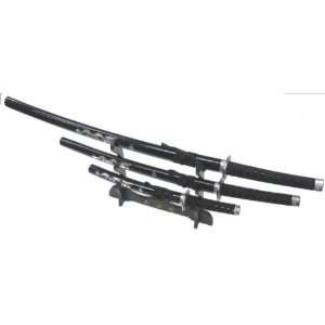 3pc Dragon Set Samurai Sword Set (#K0017 4BK) Everything Else