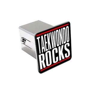 Taekwondo Rocks   2 Chrome Tow Trailer Hitch Cover Plug