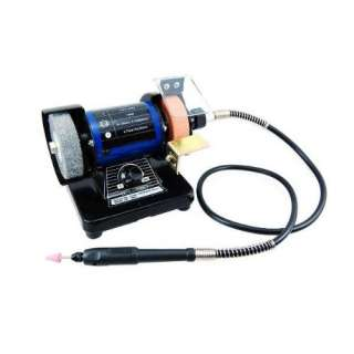Mini Bench Grinder & Polisher with Flex Shaft Rotary Micro Tool