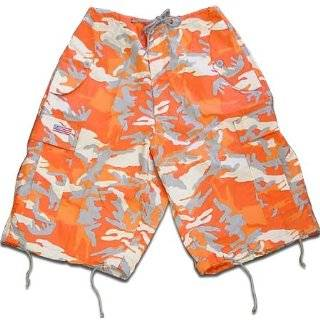THUNDER ORANGE CAMO MMA SHORTS: Sports & Outdoors
