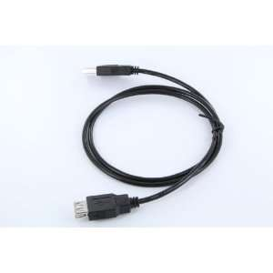 3 Foot USB 2.0 Type A Cable   M/F   Black Adapter/Converter