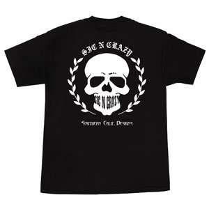 Mens, S/S T Shirt, Caddy Skull, Black/White, XXL