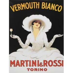 Vermouth Bianco Metal Sign