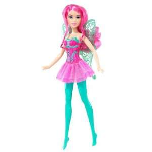 Barbie Doll Pink Fairy with Green Wings Toys & Games