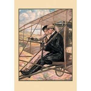Vintage Art Flying Machine   14047 x