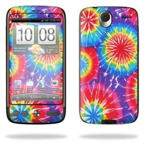 Vinyl Skin Decal Cover for HTC Desire Smart Phone Cell Phone   Tie Dye