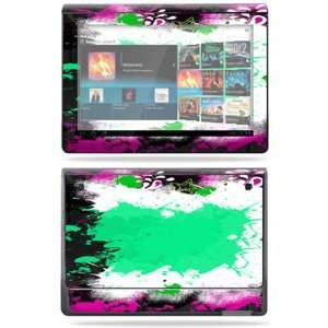Vinyl Skin Decal Cover for Sony Tablet S Paint Splatter Electronics