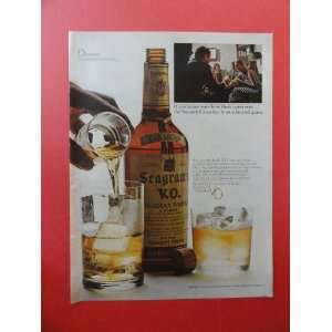 Segrams V.O. whiskey,1967 Print Ad. (expo67) Original