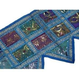 Handmade Blue Window Covering Wall Decoration Designer