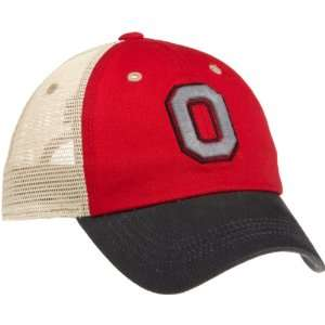Ohio State Buckeyes Wishbone Cap (Red, One Size) Sports & Outdoors