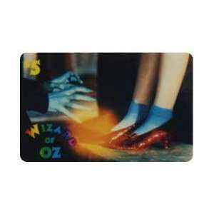 Collectible Phone Card $5. Ruby Slippers & Witchs Hands From Wizard