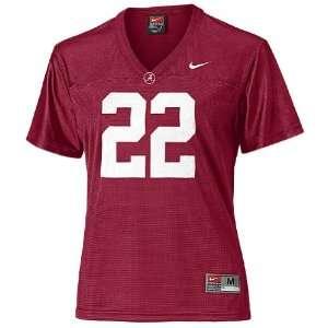 Nike Womens Alabama Crimson Tide 22 Crimson Football Jersey