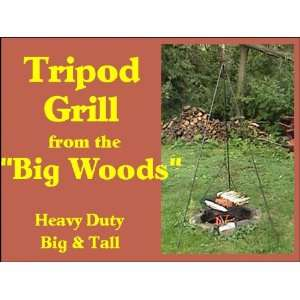 Original Big Woods Tripod Grill for Wood Fired BBQ