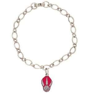 NBA Toronto Raptors Ladies Silver Tone Charm Bracelet
