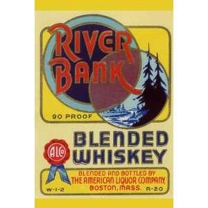 River Bank Blended Whiskey 20x30 Poster Paper