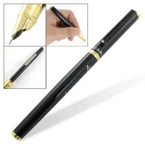 Amico Black Gold Tone Metal Shell Broad Nib Fountain Pen