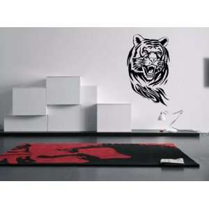 Angry Tiger Wall Art Decal Sticker