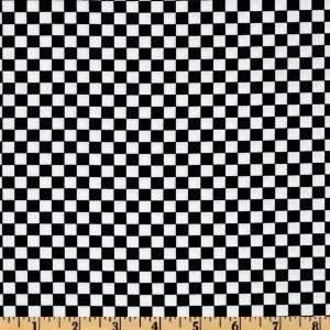 44 Wide Todays Special Checks Black/White Fabric By The