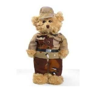 Camouflaged Military Yellow Ribbon Stuffed Teddy Bear Toys & Games
